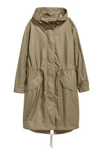 Long parka - Khaki green -  | H&M 2
