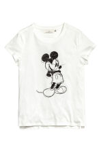Top with a print motif - White/Mickey Mouse - Ladies | H&M 2