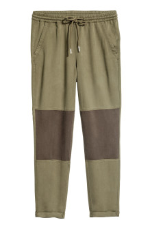 Pull-on lyocell trousers