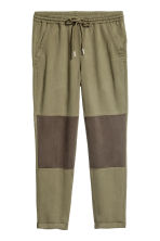 Pull-on lyocell trousers - Khaki green - Ladies | H&M CN 1