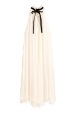 Silk chiffon dress - Natural white - Ladies | H&M CN 2