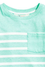 T-shirt with a chest pocket - Mint green marl -  | H&M 3
