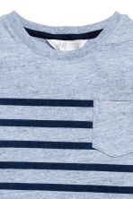 T-shirt with a chest pocket - Blue marl -  | H&M 3