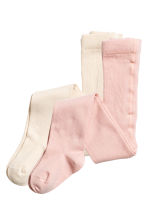 2-pack tights - Powder pink - Kids | H&M 1