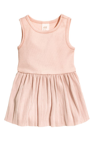 Sleeveless dress - Powder pink -  | H&M 1