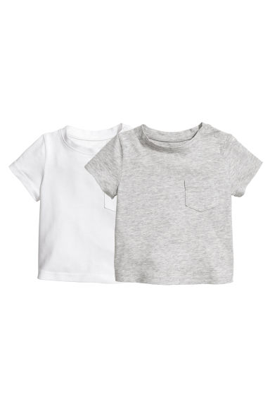 2-pack T-shirts - Grey marl -  | H&M 1
