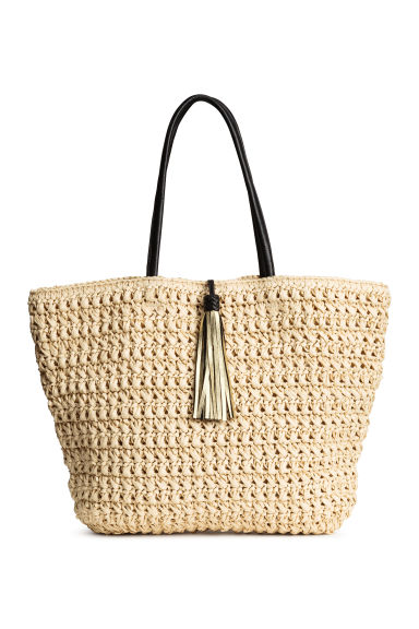 Straw shopper - Natural - Ladies | H&M 1