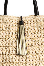 Straw shopper - Natural - Ladies | H&M 3
