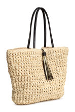 Straw shopper - Natural - Ladies | H&M 2