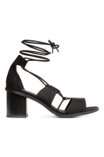 Sandalen met veters - Zwart - DAMES | H&M BE 1