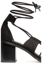 Sandals with lacing - Black - Ladies | H&M 4