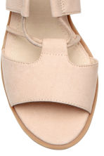 Sandals with lacing - Powder - Ladies | H&M CN 4