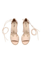 Sandals with lacing - Powder - Ladies | H&M CN 3
