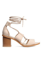 Sandals with lacing - Powder - Ladies | H&M CN 2