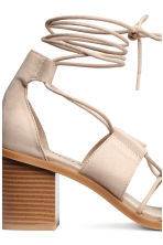 Sandals with lacing - Powder - Ladies | H&M CN 5