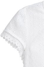 Broderie anglaise top - White - Ladies | H&M CN 4