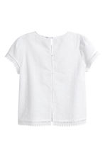 Broderie anglaise top - White - Ladies | H&M 3