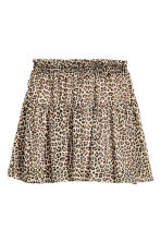 Crêpe skirt - Leopard print - Ladies | H&M IE 2