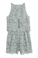 Lace playsuit - Dusky green - Ladies | H&M 3