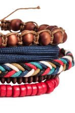 5-pack bracelets - Red/Dark blue - Men | H&M 2