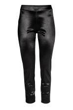 Glanzende legging - Zwart - DAMES | H&M BE 2