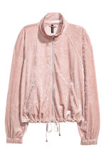 Crushed velvet jacket - Light pink - Ladies | H&M 2