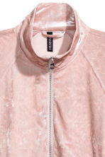 Crushed velvet jacket - Light pink - Ladies | H&M 3