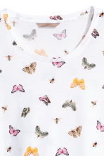 H&M+ Jersey top - White/Butterflies - Ladies | H&M 2