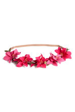Hairband with flowers - Cerise - Ladies | H&M 1