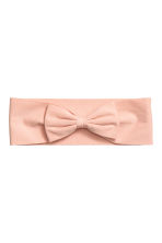 Hairband with a bow - Powder pink - Ladies | H&M 1