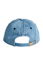 Denim cap with appliqué - Denim blue/Palm - Men | H&M 2