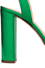 Leather platform sandals - Green/Metallic - Ladies | H&M 4