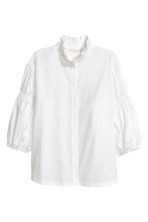 Cotton blouse - White - Ladies | H&M 2