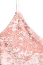 Crushed velvet strappy top - Pink - Ladies | H&M 2