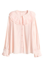 Long-sleeved blouse - Powder pink -  | H&M 2