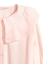 Long-sleeved blouse - Powder pink -  | H&M 3