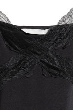 Jersey strappy top with lace - Black - Ladies | H&M 2
