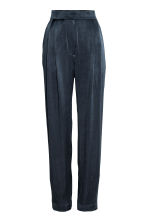 Wide suit trousers - Dark blue - Ladies | H&M CN 2