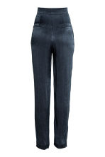 Wide suit trousers - Dark blue - Ladies | H&M CN 3