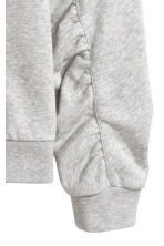 Gathered-sleeve sweatshirt - Grey marl - Ladies | H&M 3