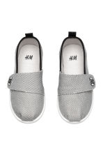 Textured-weave trainers - Grey/Black - Kids | H&M 2