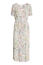 V-neck dress - Natural white/Floral - Ladies | H&M 2
