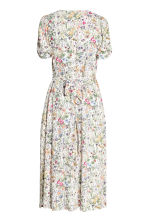 V-neck dress - Natural white/Floral - Ladies | H&M CN 3