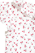 Blouse with butterfly sleeves - White/Cherry - Kids | H&M 3