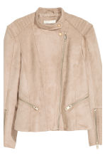 Biker jacket - Light beige - Ladies | H&M CN 4