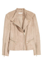 Biker jacket - Light beige - Ladies | H&M CN 2