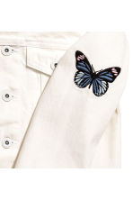 Embroidered denim jacket - White - Kids | H&M 3
