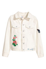 Embroidered denim jacket - White - Kids | H&M 2
