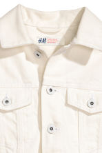 Embroidered denim jacket - White - Kids | H&M 4