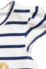 Printed jersey top - White/Dark blue/Striped - Kids | H&M 3